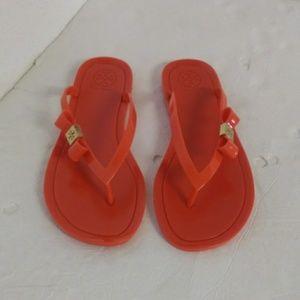 Tory Burch Jelly Flip Flops Sandals.